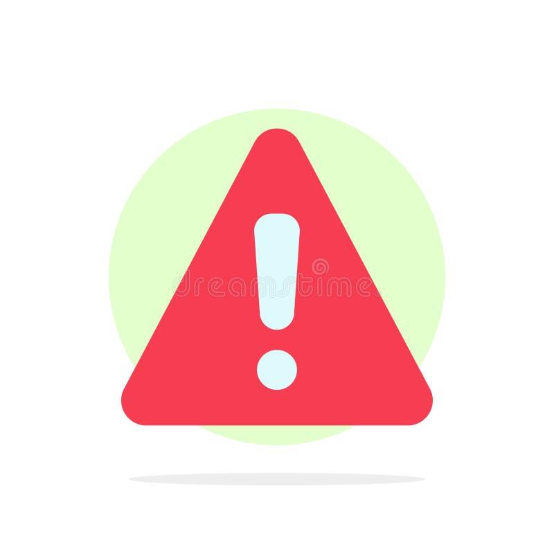 Сигнал тревоги, опасность, предупреждение, значок цвета предпосылки круга конспекта знака плоский бесплатная иллюстрация