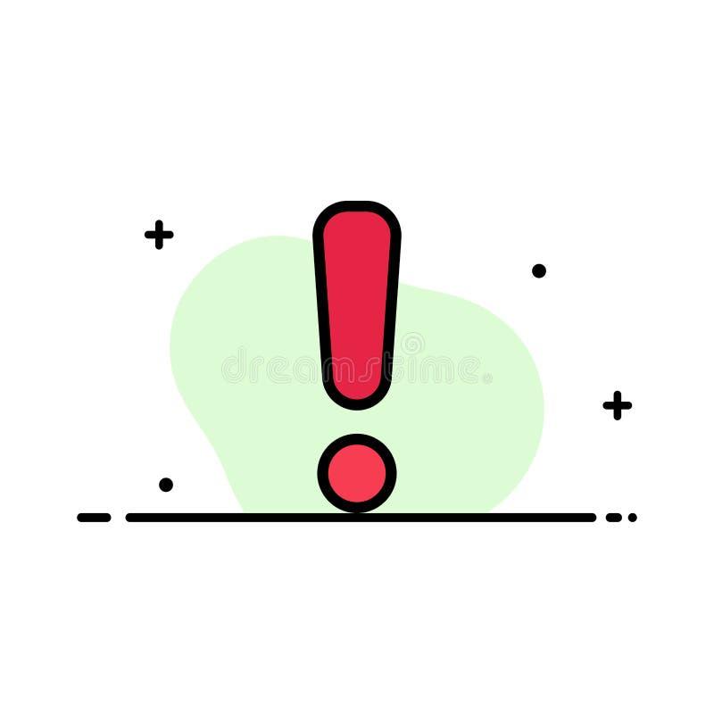 Сигнал тревоги, опасность, предупреждение, линия дела знака плоская заполнил шаблон знамени вектора значка иллюстрация штока