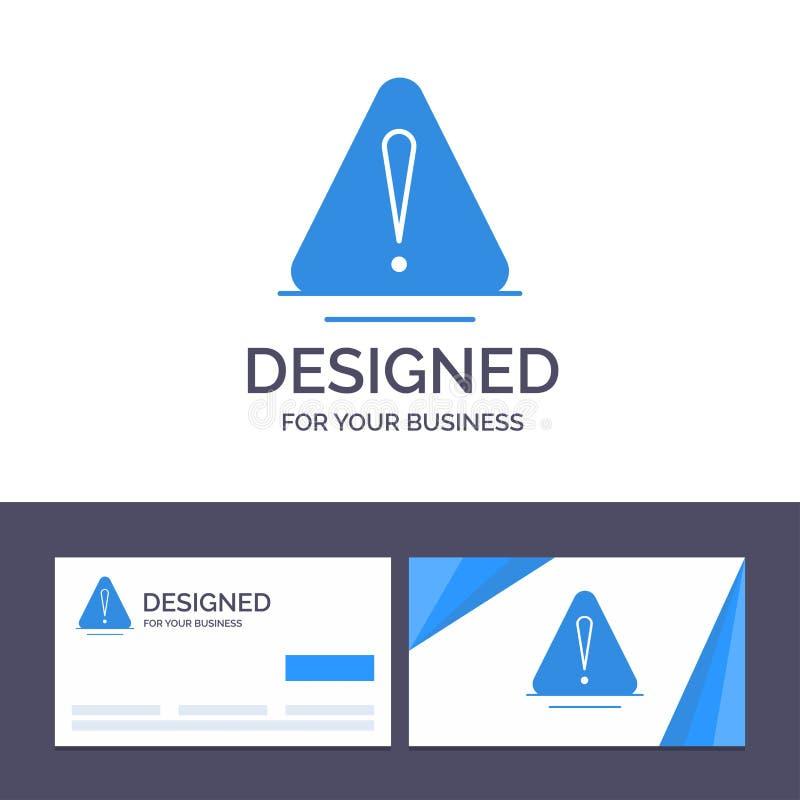Сигнал тревоги творческого шаблона визитной карточки и логотипа, опасность, предупреждение, логистическая иллюстрация вектора иллюстрация вектора