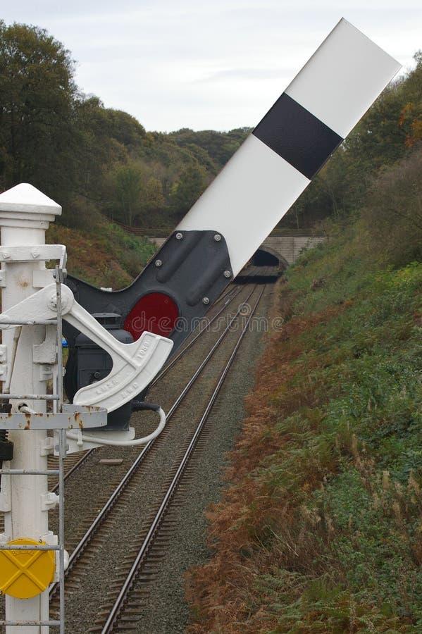 сигнал 02 railway стоковая фотография rf