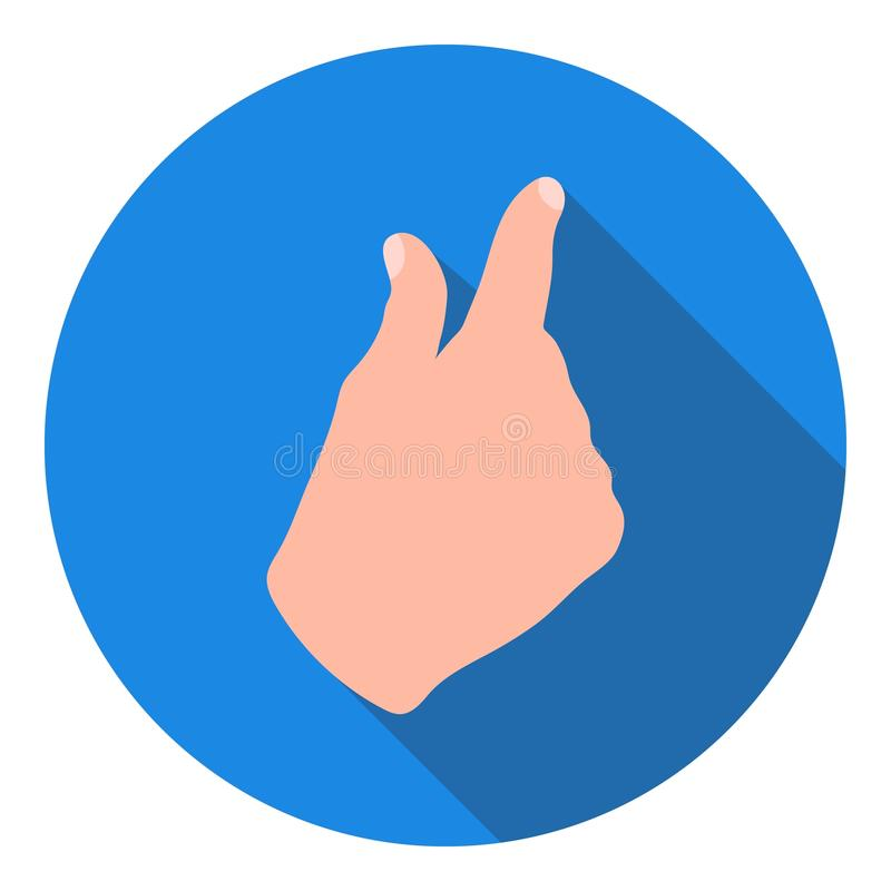Сигналит внутри значок жеста в плоском стиле на белой предпосылке Иллюстрация вектора запаса символа жестов рукой бесплатная иллюстрация