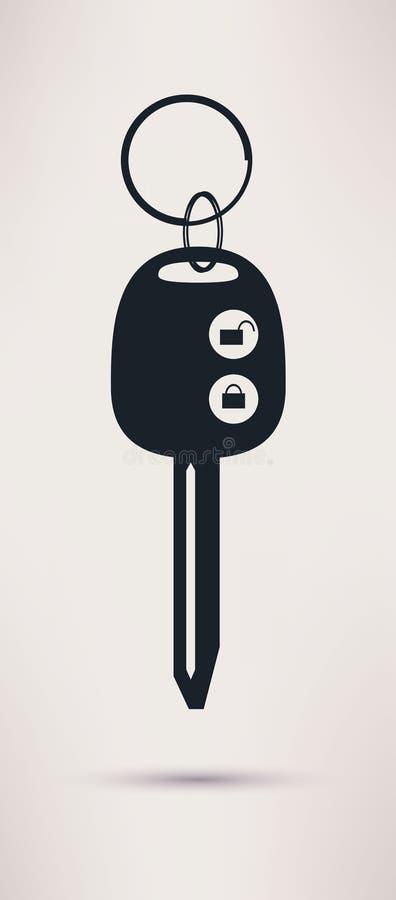 Сигнал тревоги автомобиля и значок ключа, иллюстрация вектора иллюстрация штока