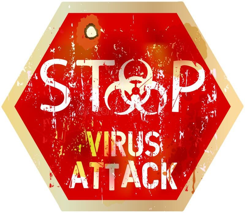 Сигнал тревоги компьютерного вируса иллюстрация штока