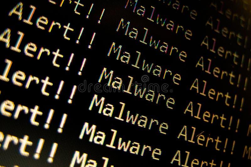 Сигнал тревоги Malware стоковые фото