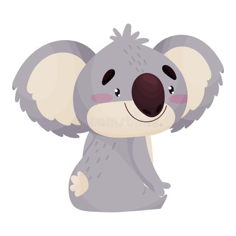 Сидеть коалы мультфильма милый humanized r иллюстрация штока