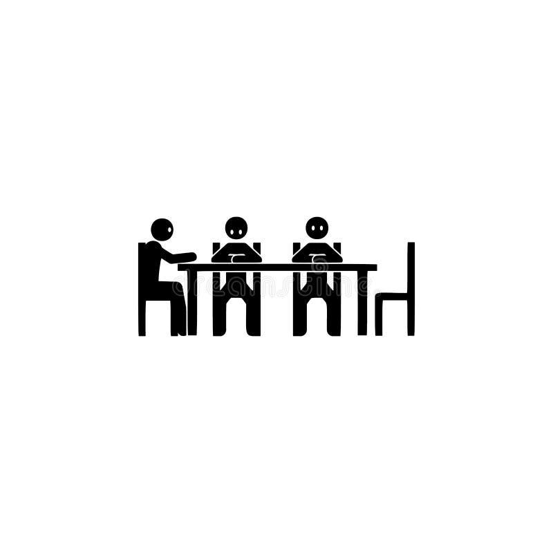 сидя компания, ждать значок Элемент значка позиции усаживания для мобильных приложений концепции и сети Компания глифа, ждать зна иллюстрация штока