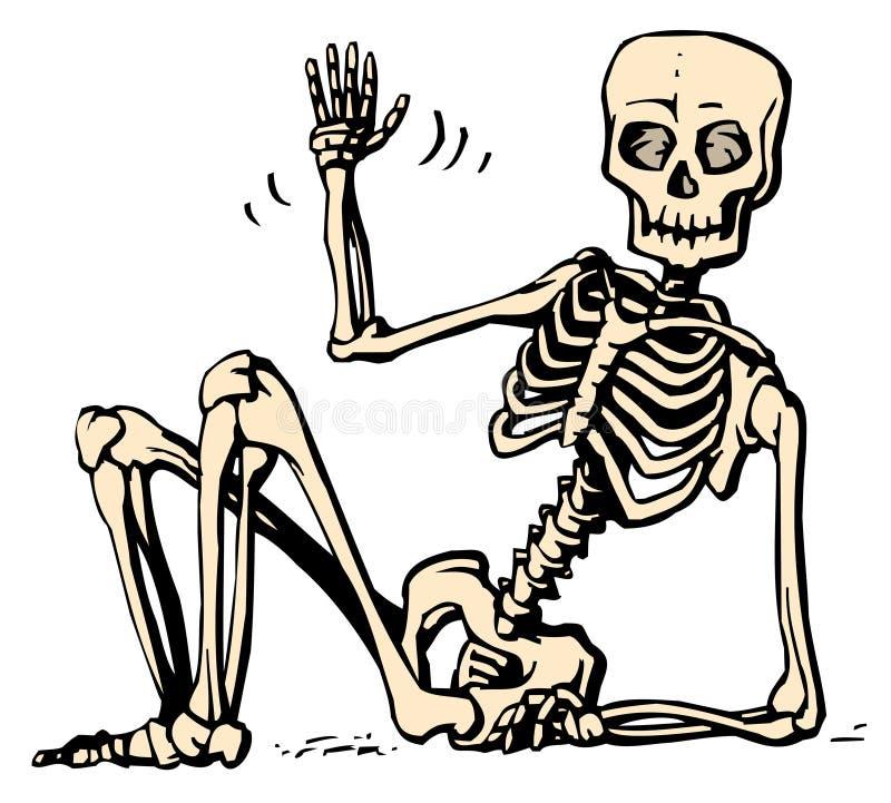 сидя скелет бесплатная иллюстрация