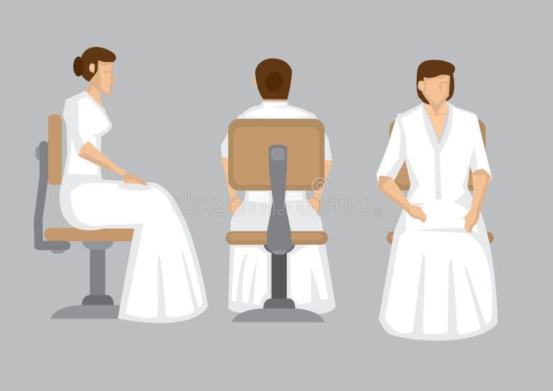 Сидя элегантная дама в белом длинном векторе персонажа из мультфильма мантии бесплатная иллюстрация