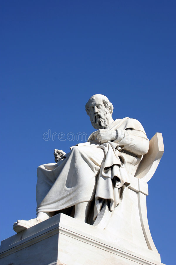 сидя Sokrates Стоковые Изображения RF
