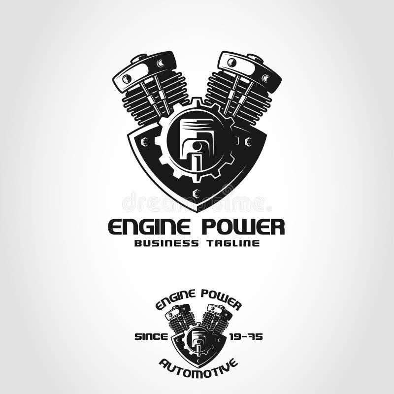 Сила двигателя автомобильный логотип который может быть использован автомобильной компанией, автоматическим клубом, автоматическо бесплатная иллюстрация