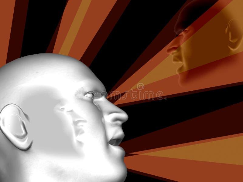 сила дела головная людская иллюстрация штока