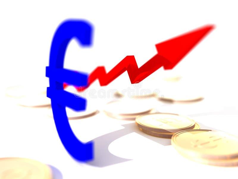 сила евро иллюстрация вектора