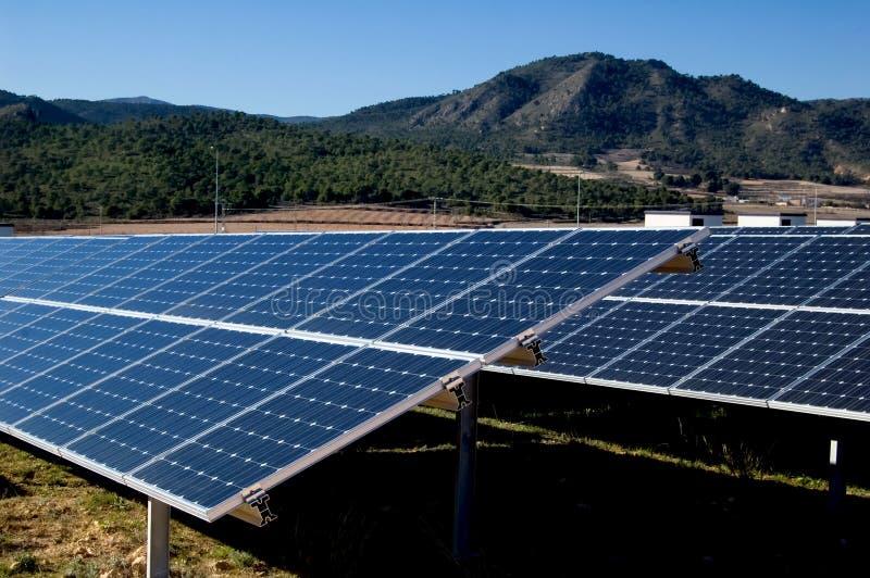 сила завода энергии солнечная стоковая фотография rf
