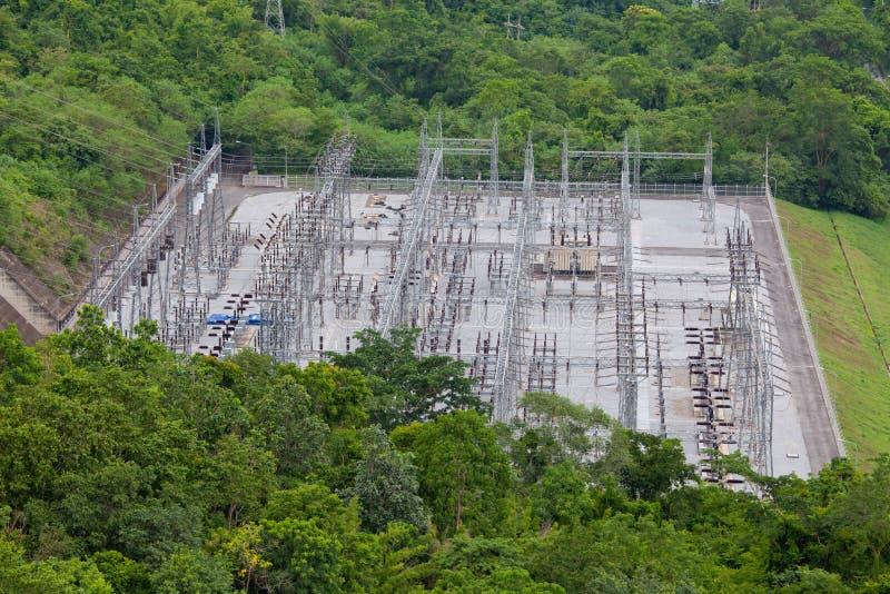 сила запруды электрическая гидро стоковая фотография rf
