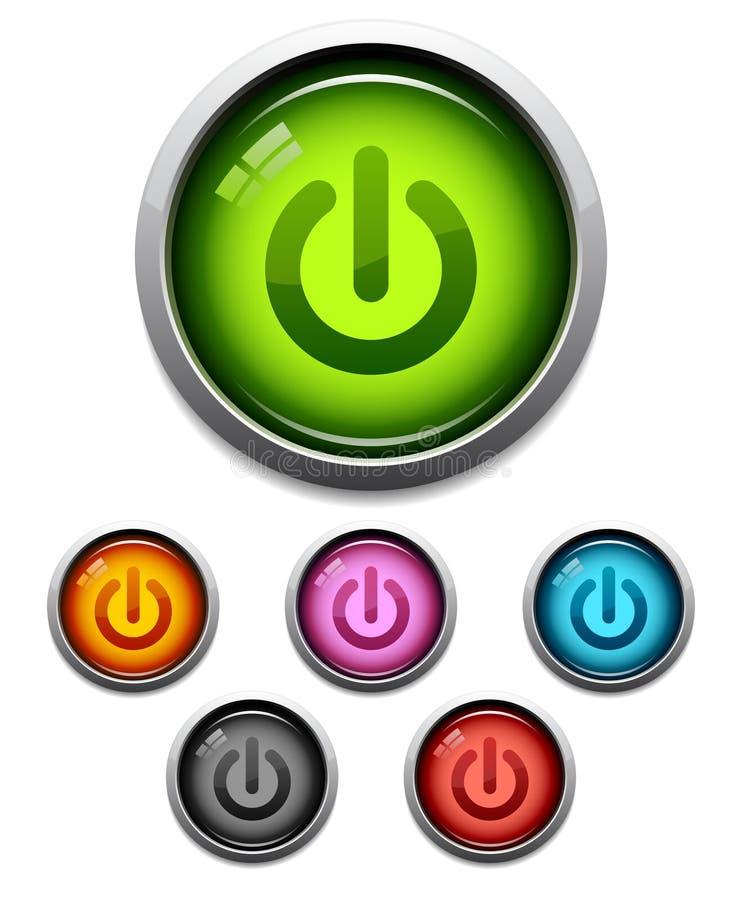 сила иконы кнопки бесплатная иллюстрация