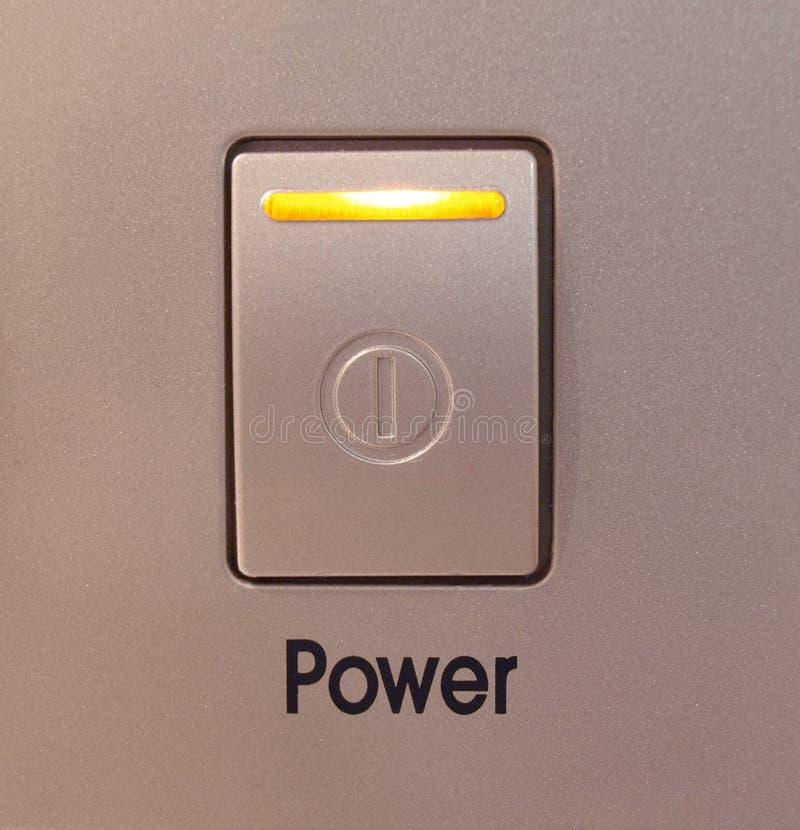 сила кнопки стоковая фотография rf