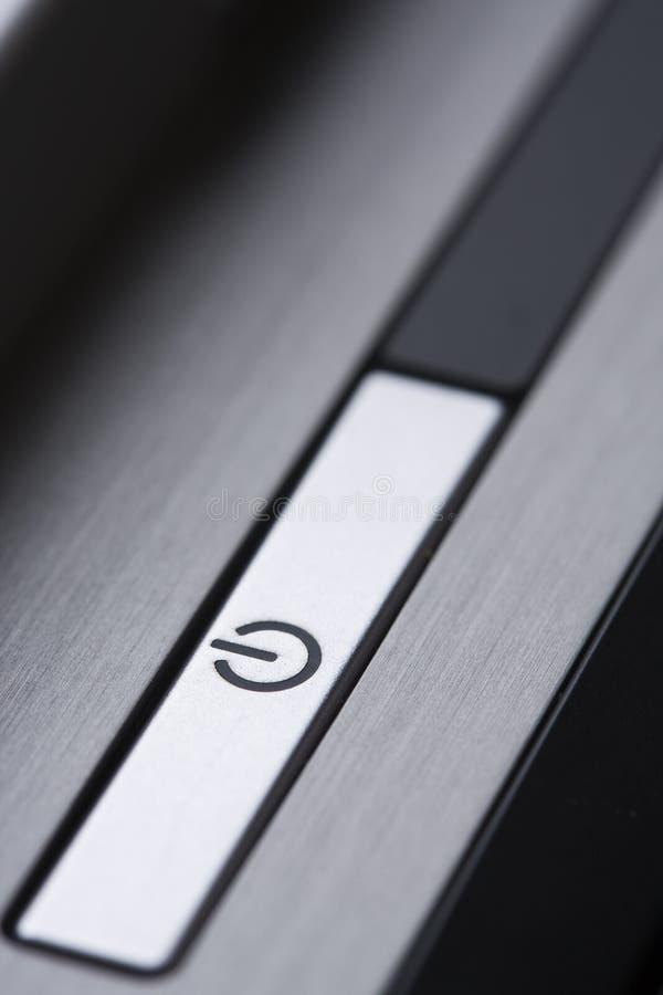 сила компьютера кнопки стоковые фотографии rf