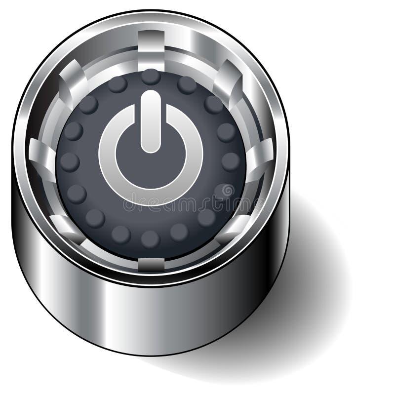 сила компьютера кнопки иллюстрация вектора
