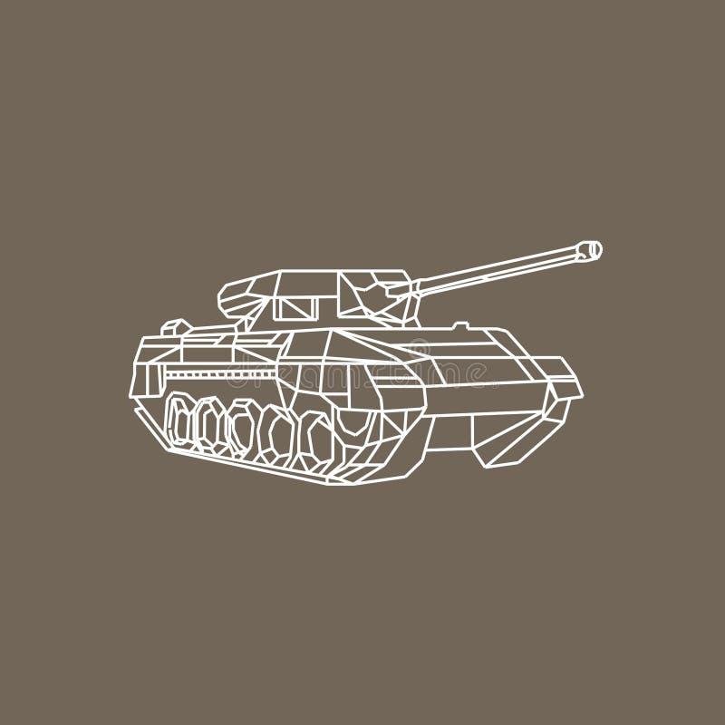 Сила танка иллюстрация вектора