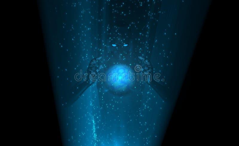 сила cyborg вверх бесплатная иллюстрация