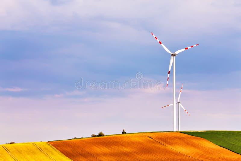 Сила Eco Ветротурбины паркуют Нижняя Австрия стоковая фотография