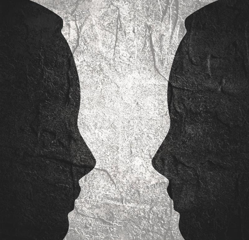 Силуэты головы 2 бесплатная иллюстрация