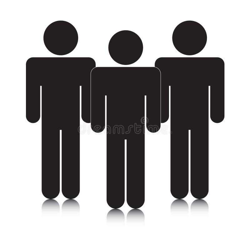 силуэты группы stickmen иллюстрация штока