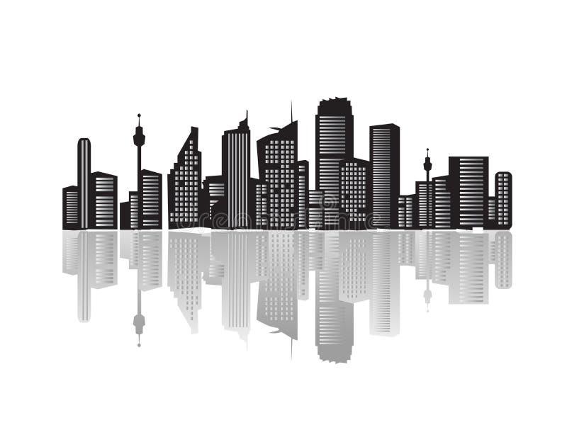 силуэты ландшафта города бесплатная иллюстрация