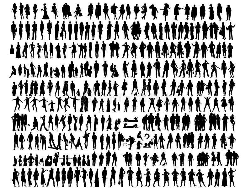 силуэты людей иллюстрация штока