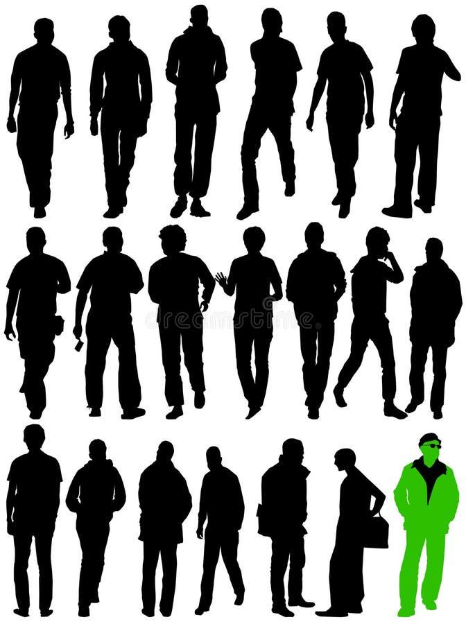 силуэты человека moving бесплатная иллюстрация