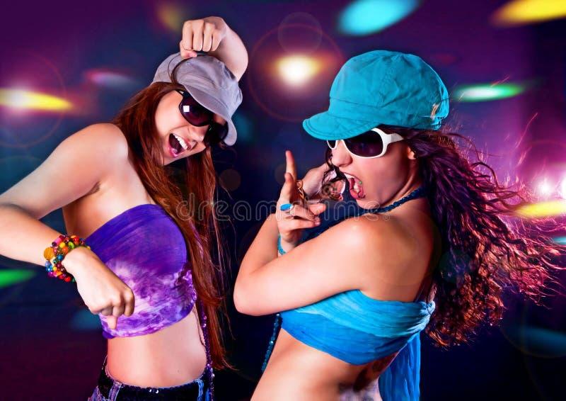 Силуэты 3 танцы Стоковые Фотографии RF