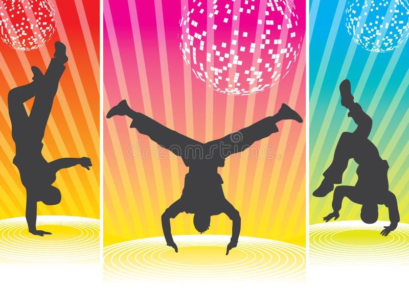 силуэты breakdance бесплатная иллюстрация