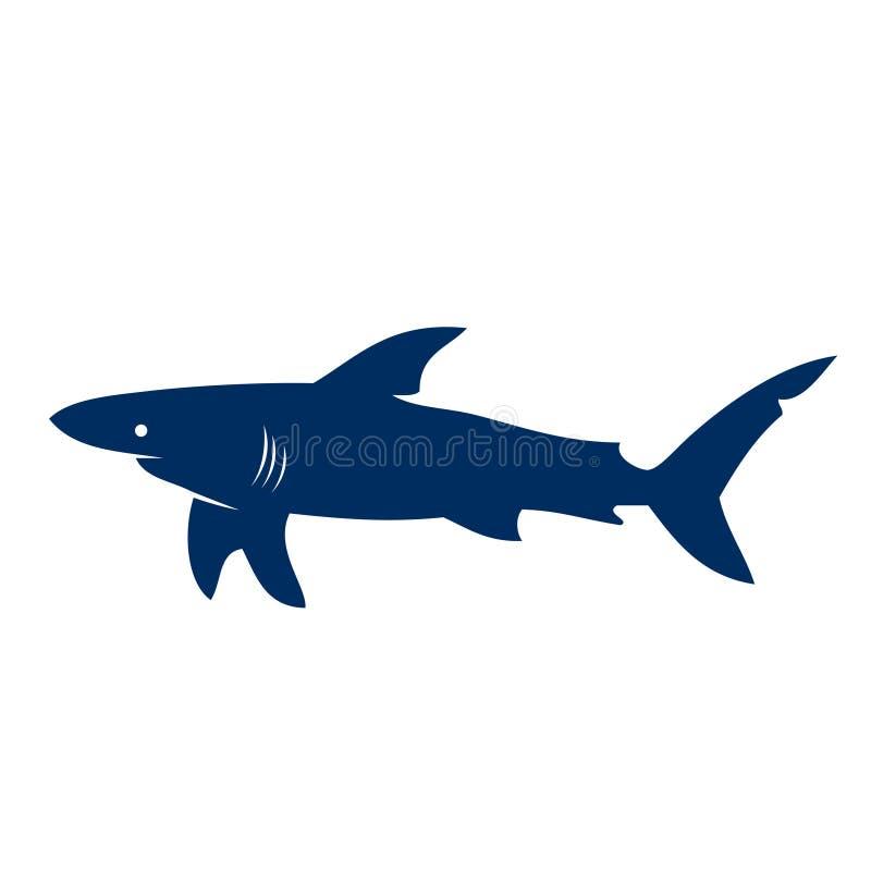 силуэт акулы иллюстрация вектора