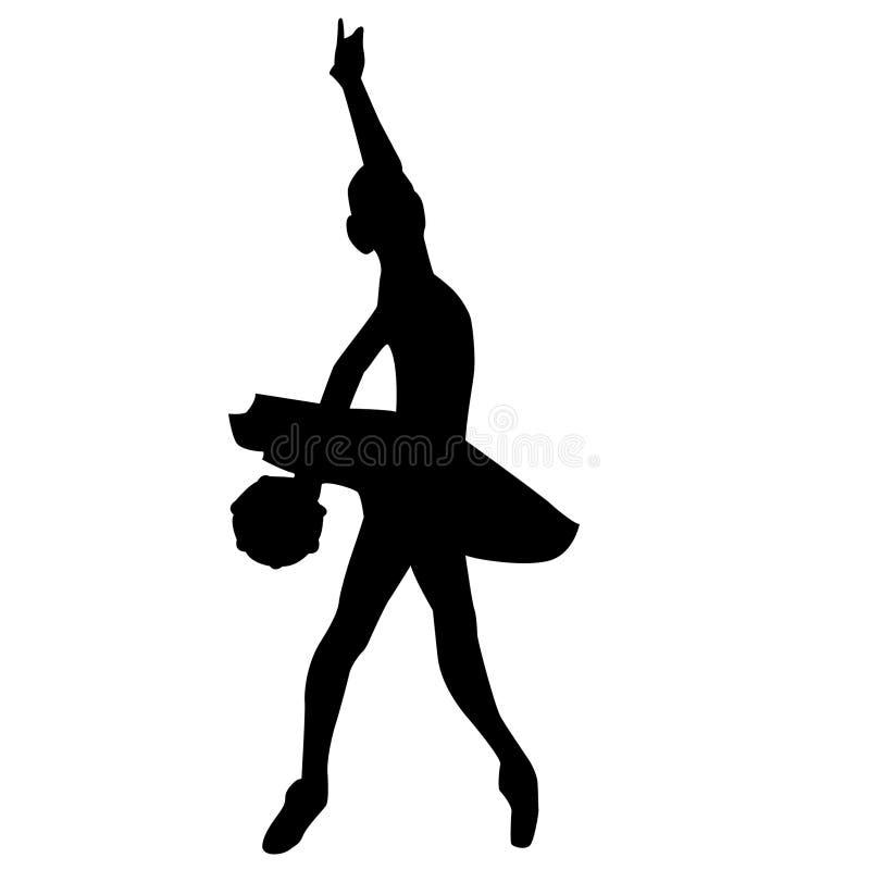 Силуэт артиста балета crafteroks иллюстрация вектора