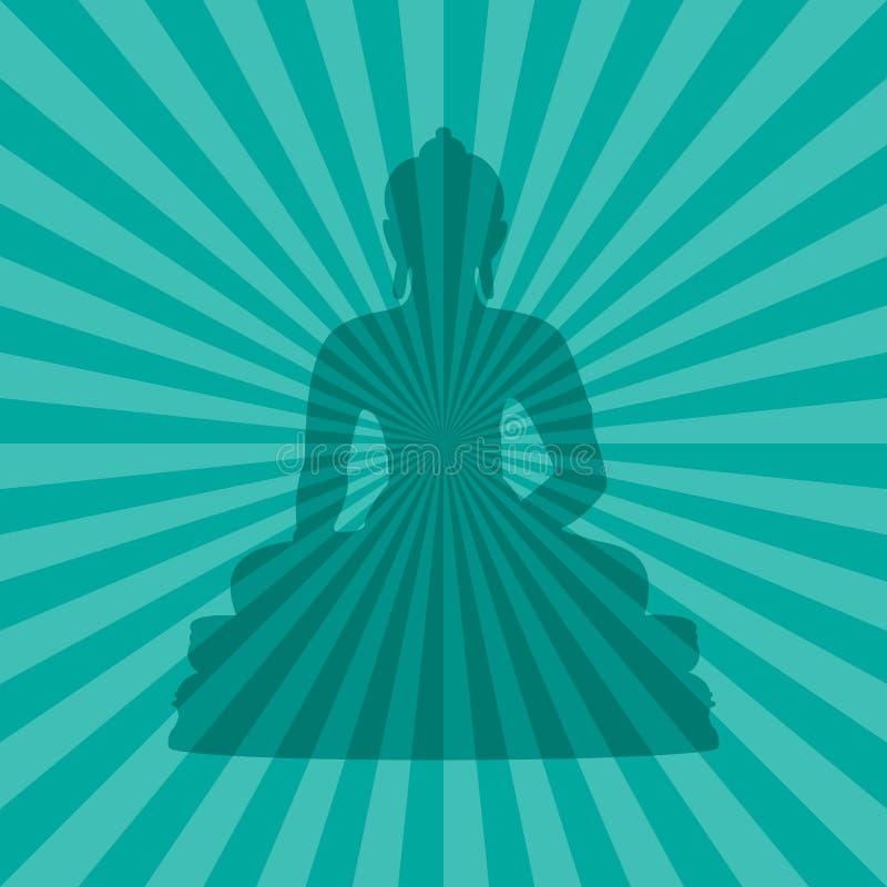 силуэт Будды иллюстрация вектора