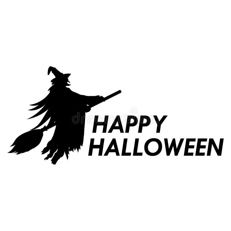 Силуэт ведьмы на broomstick на хеллоуине бесплатная иллюстрация