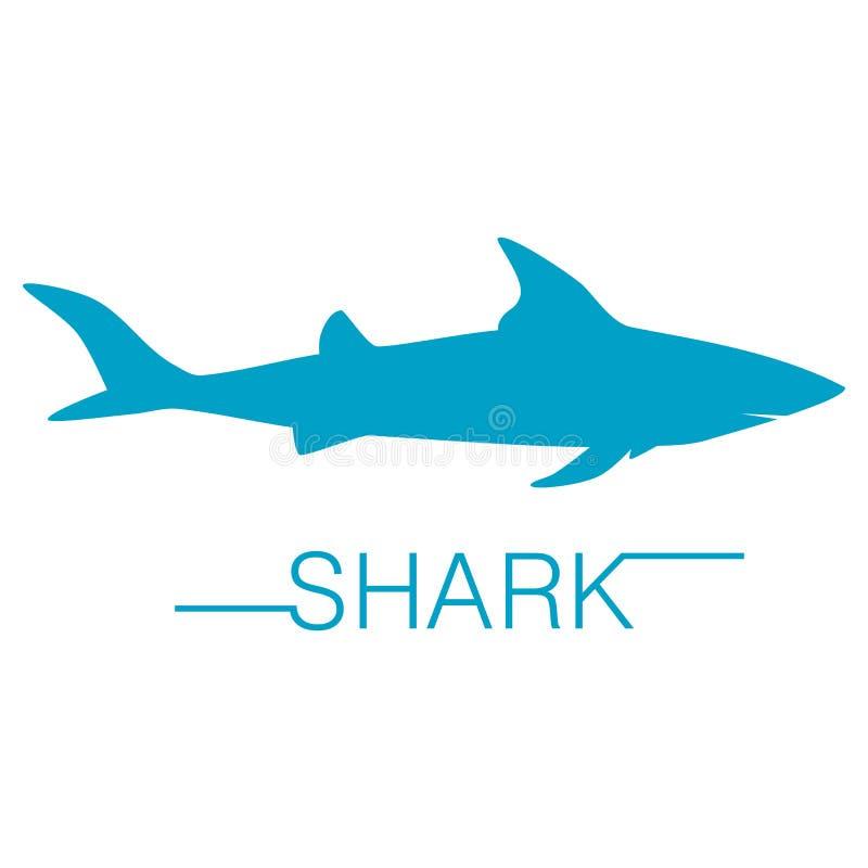 Силуэт вектора акулы бесплатная иллюстрация
