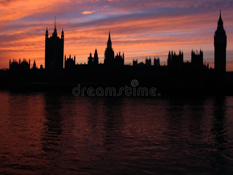 силуэт Великобритания 01 london стоковая фотография rf