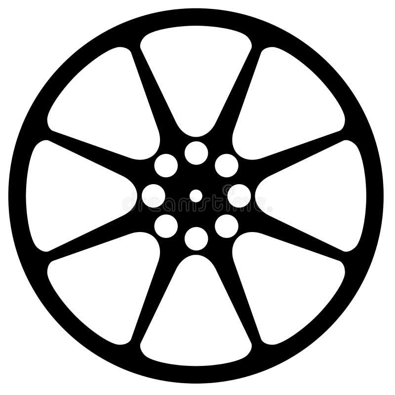 Силуэт вьюрка кино иллюстрация вектора