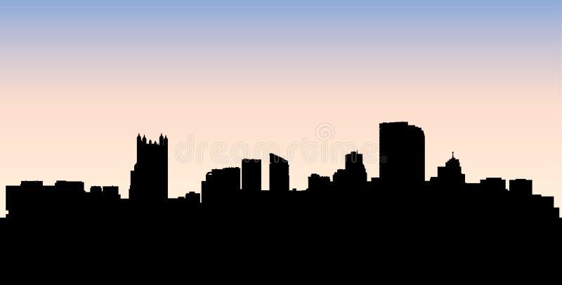 Силуэт горизонта Питтсбурга бесплатная иллюстрация