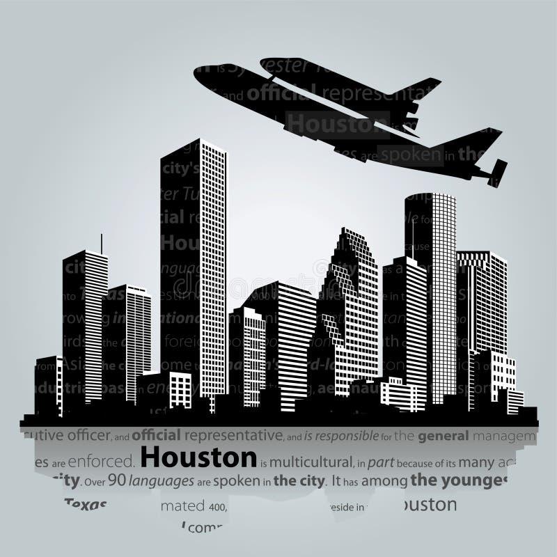 Силуэт города Хьюстона бесплатная иллюстрация