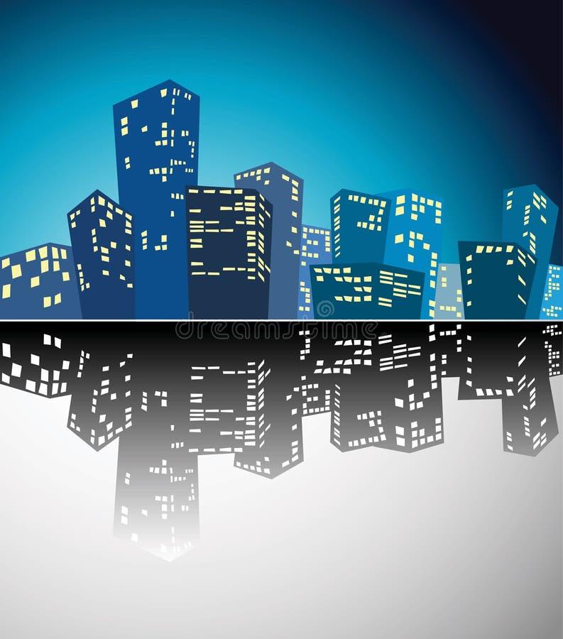 силуэт города иллюстрация штока