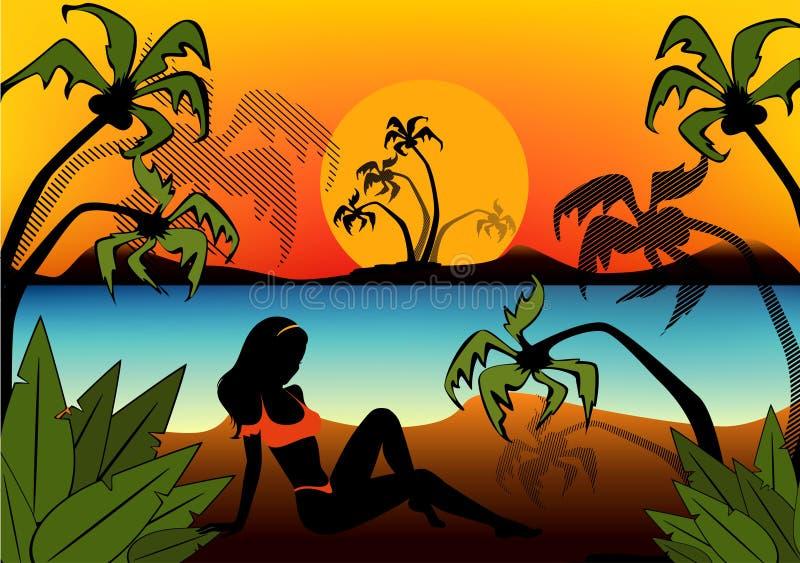 силуэт девушки бесплатная иллюстрация