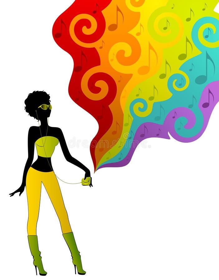 силуэт девушки иллюстрация вектора