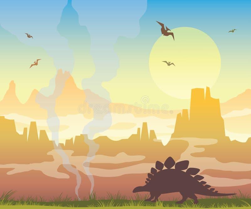 Динозавры и доисторическая природа стоковые изображения rf