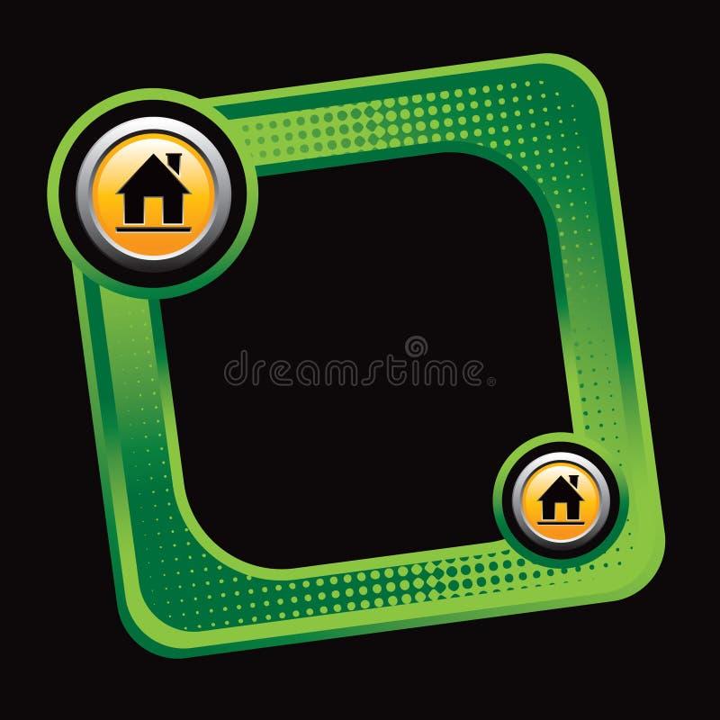 силуэт дома halftone объявления зеленый опрокинул бесплатная иллюстрация