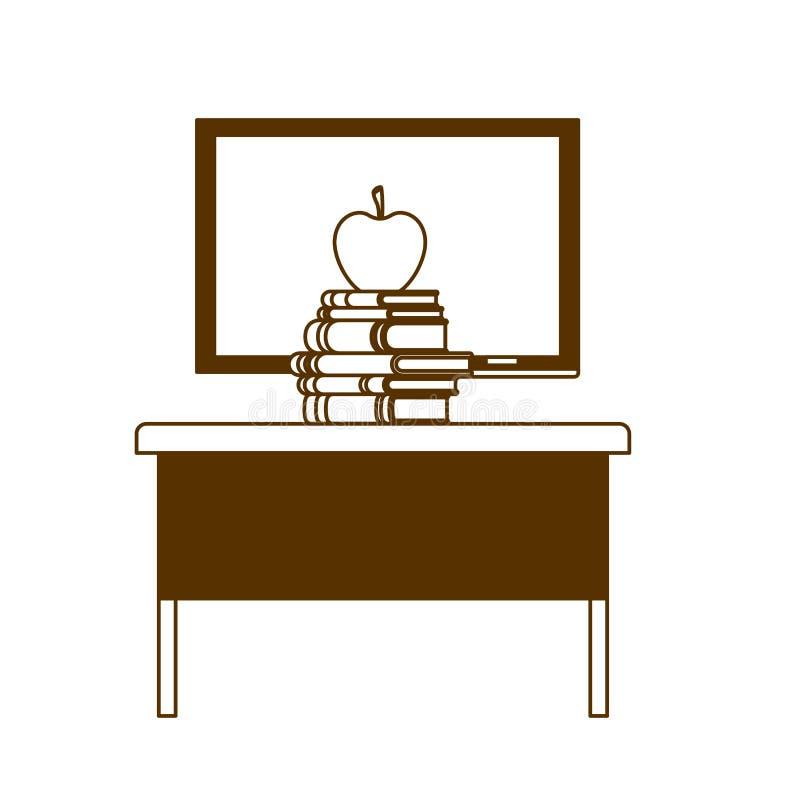 Силуэт доски школы в классе иллюстрация штока