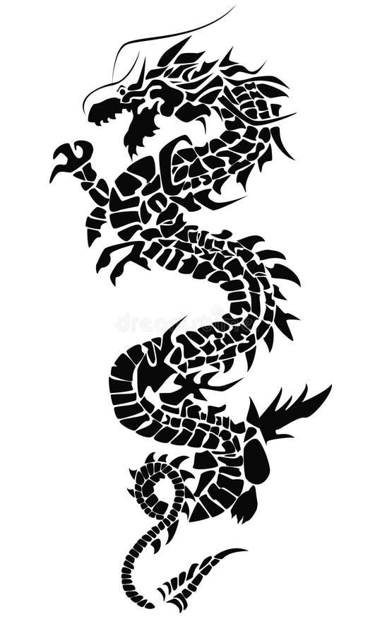 силуэт дракона Стоковые Фотографии RF