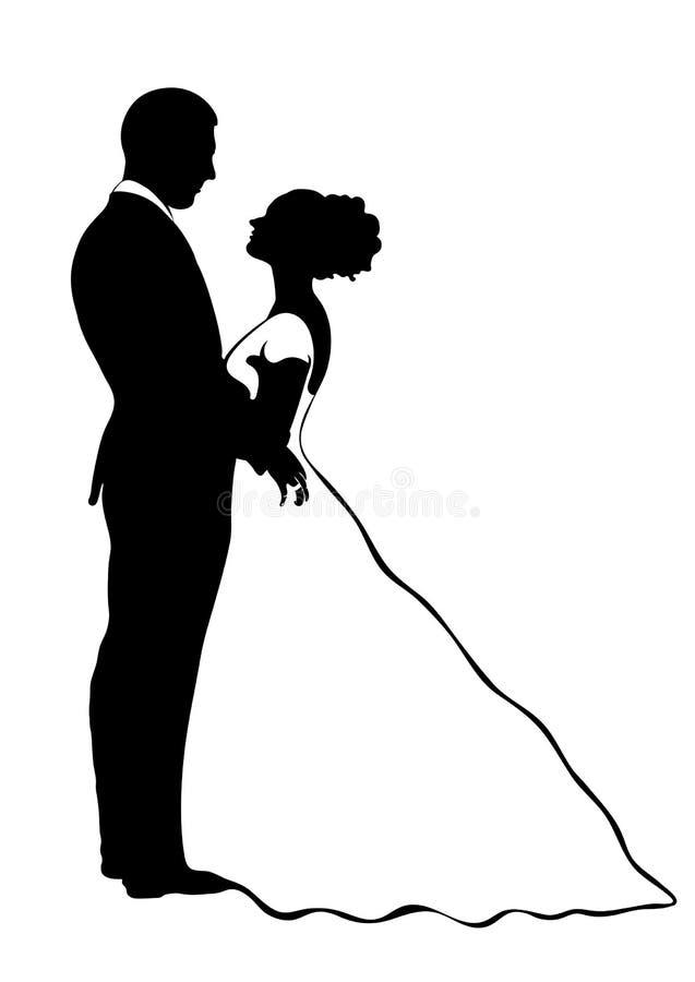белая картинка жених невеста черно и