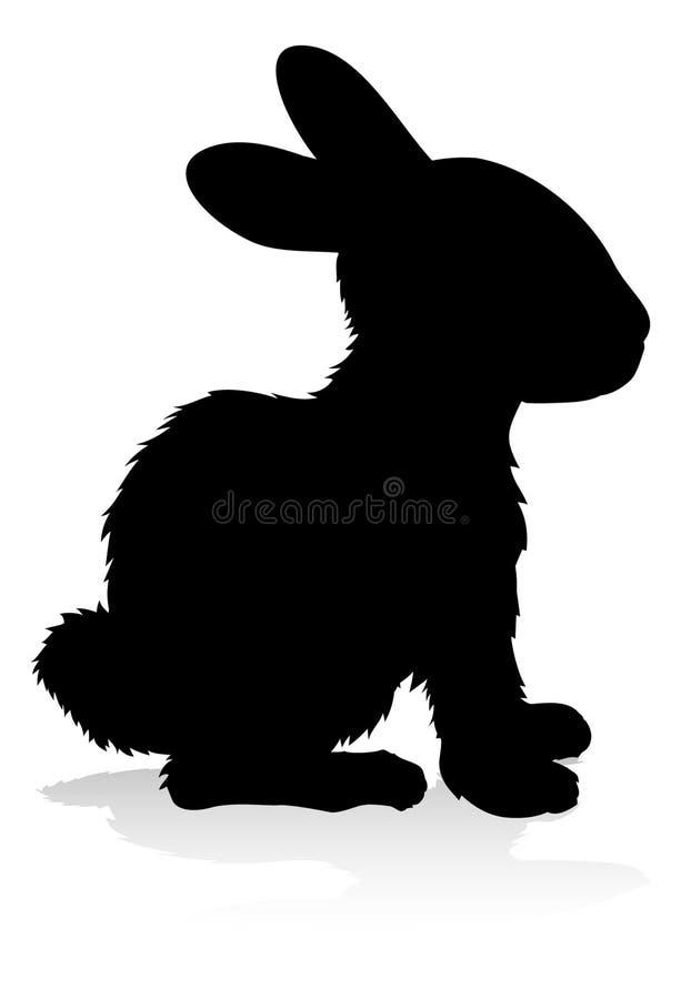 Силуэт животного кролика иллюстрация вектора